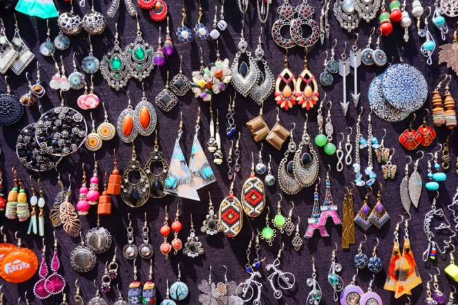 Earrings, market, Lake Ohrid, North Macedonia