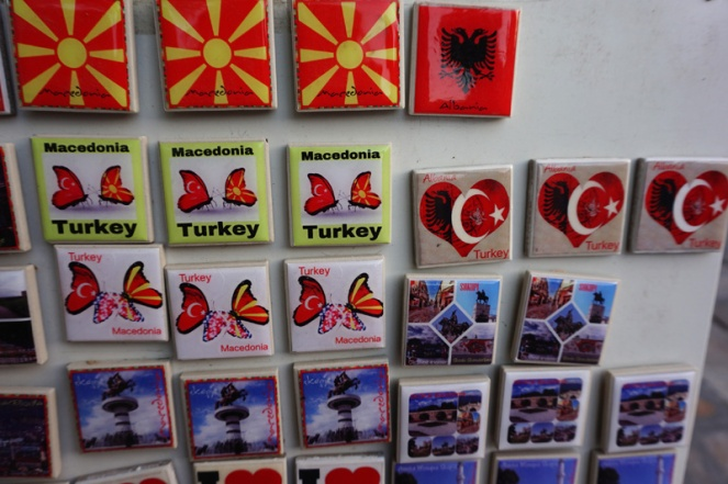 Macedonia Turkey magnets, Skopje, North Macedonia