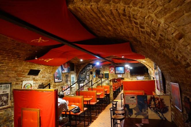 KGB themed underground bar, Bratislava, Slovakia