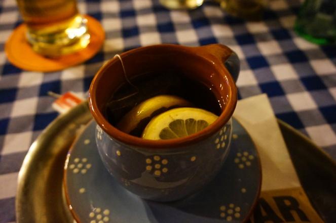 Alcoholic tea at the Slovak pub, Bratislava, Slovakia