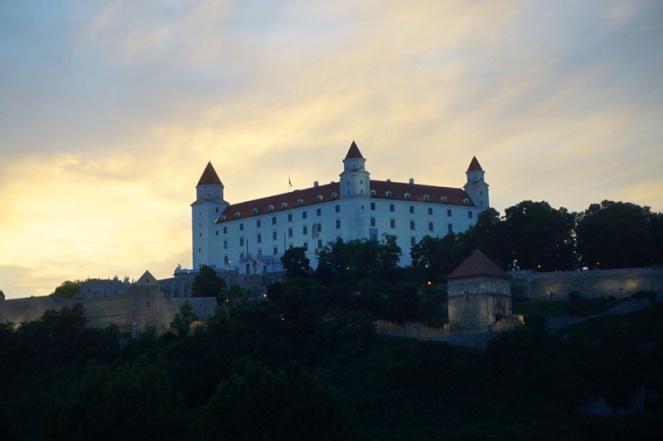 Castle at sunset, Bratislava, Slovakia