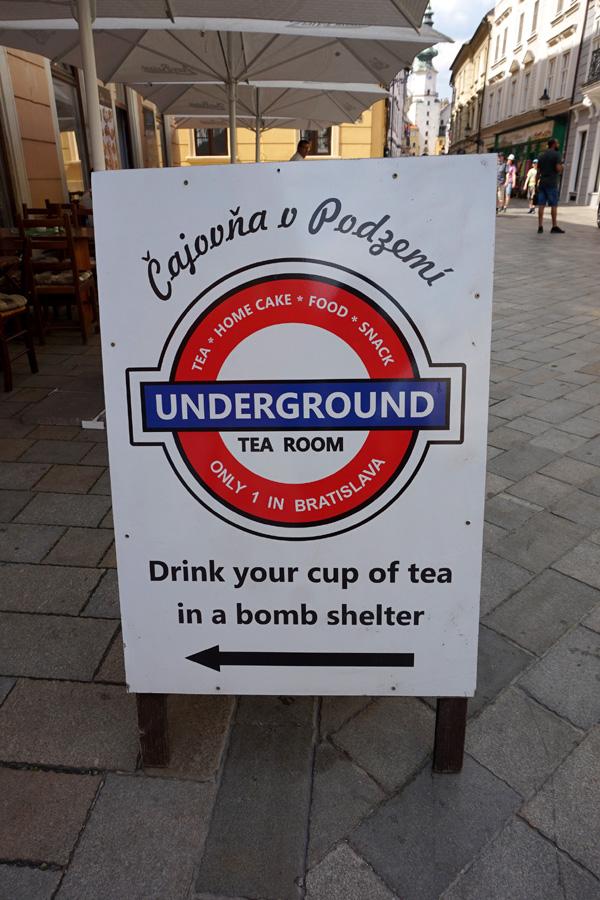 Underground Tea Room, Bratislava, Slovakia