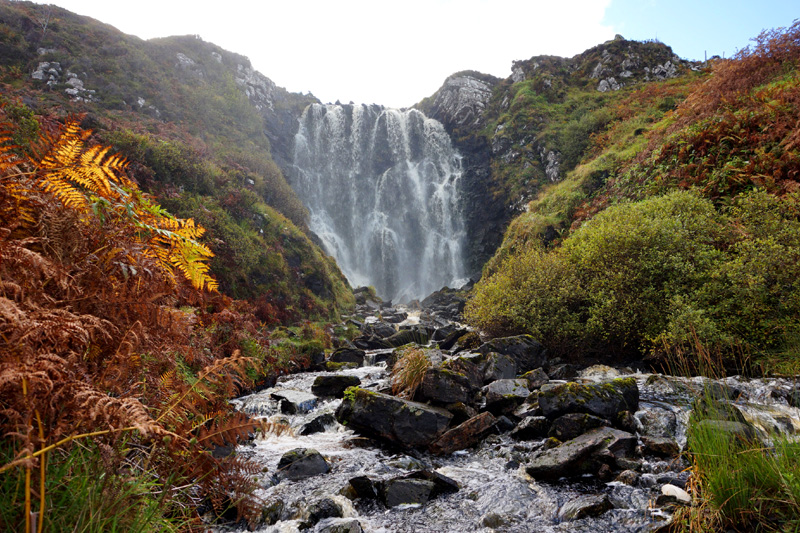 Clashnessie waterfall, Scotland, North Coast 500, NC500 road trip