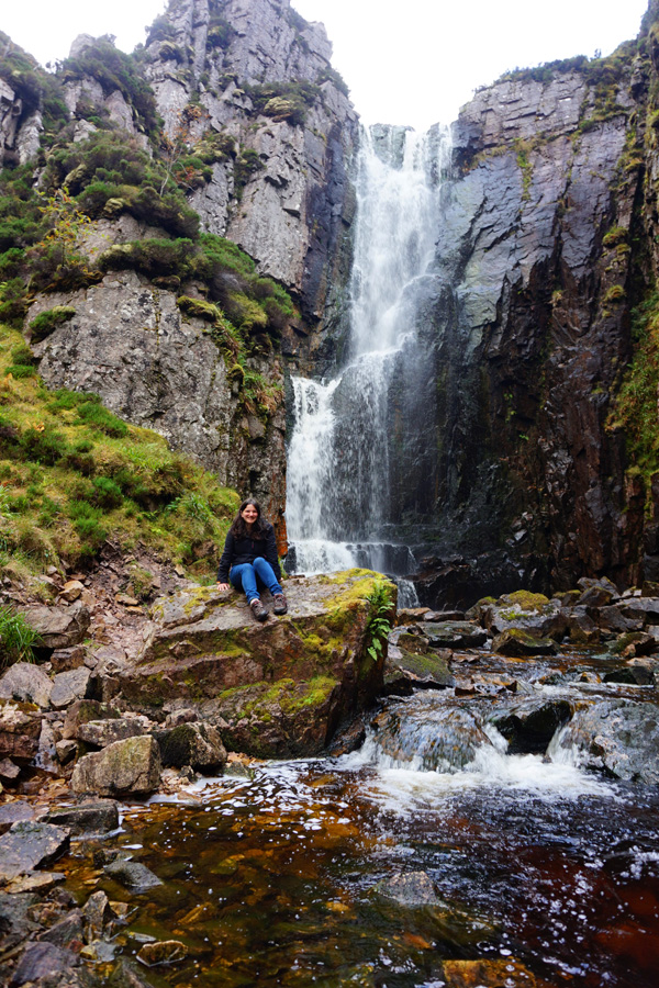 Wailing Widow falls on Loch na,Gainmhich, Scotland, NC500, North Coast 500 road trip
