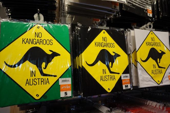 No Kangaroos in Austria t shirts