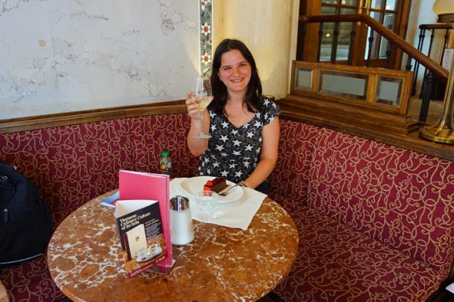 Me in Cafe Central, Vienna, Austria