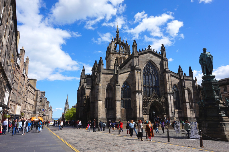 Royal Mile, St Giles Cathedral, Edinburgh, Scotland