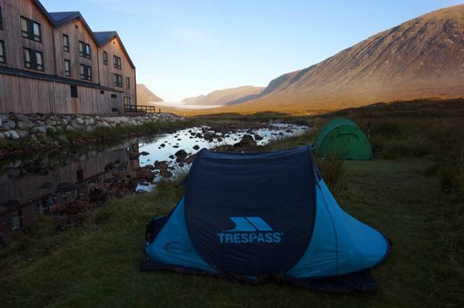 Kingshouse camping, Glencoe, Scotland