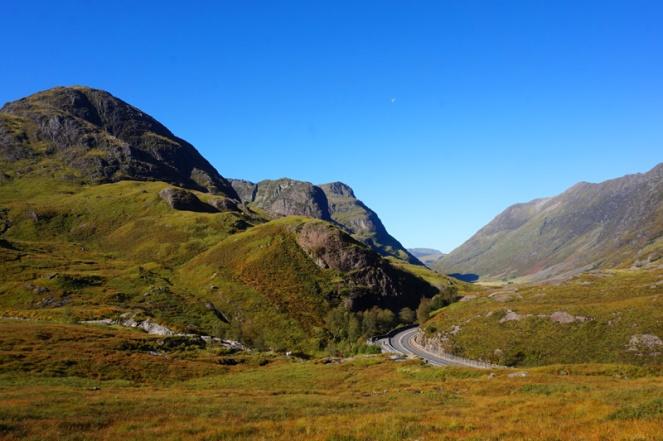 View across Glencoe, start of Buachaille Etive Beag hike, Scotland
