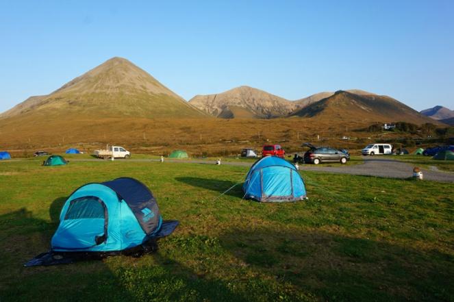 Sligachan campsite, Isle Of Skye, Scotland