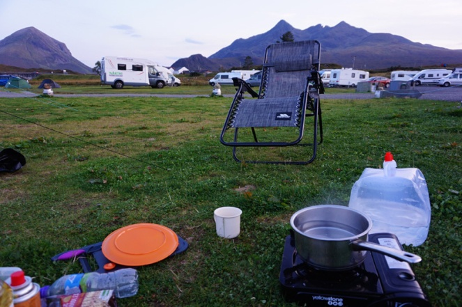 Sligachan camp site, Isle Of Skye, Scotland
