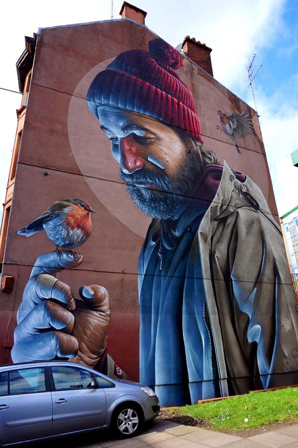St Mungo street art, Glasgow, Scotland
