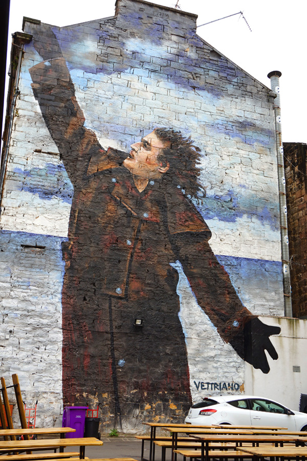 Billy Connolly street art, Glasgow, Scotland