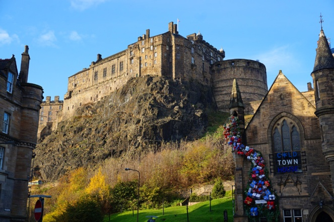 Edinburgh Castle from Grassmarket, Scotland