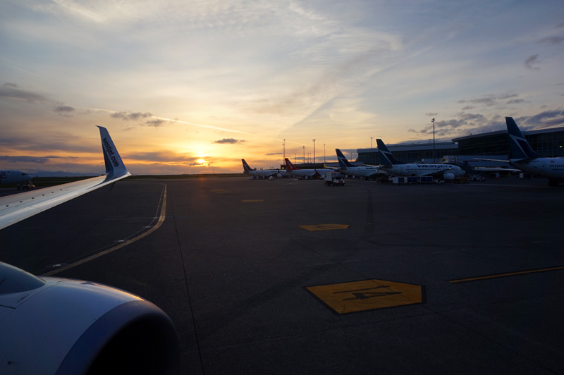 Vancouver airport sunset, Canada