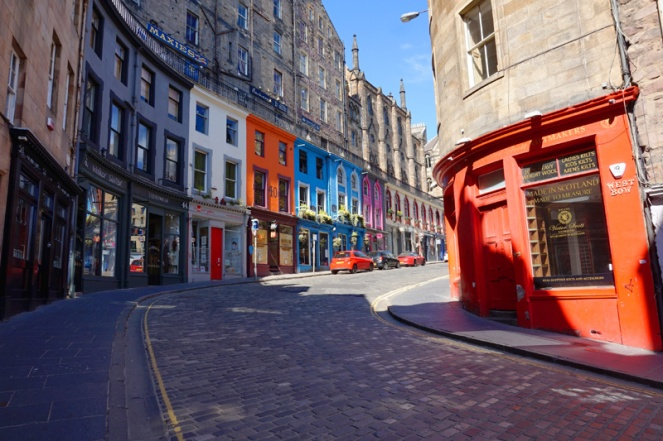 Victoria Street in lockdown, Edinburgh