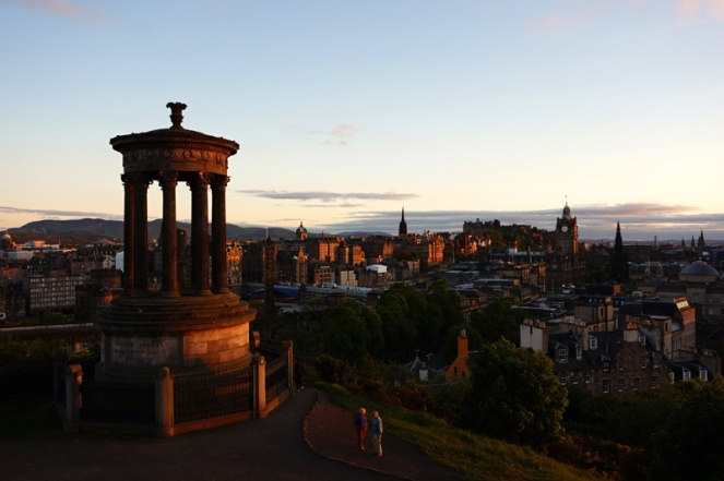 Calton Hill sunset, Edinburgh