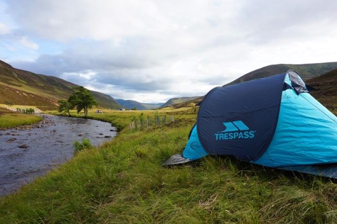 Wild camping, Braemar, Aberdeenshire