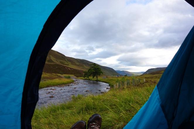 Wild camping in Braemar, Cairngorms, Aberdeenshire, Scotland