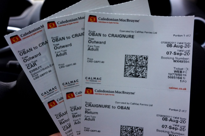 Tickets to the Isle Of Mull, Oban, Scotland