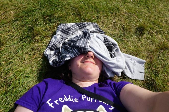 Sunbathing on Lunga, Treshnish Isles, Scotland