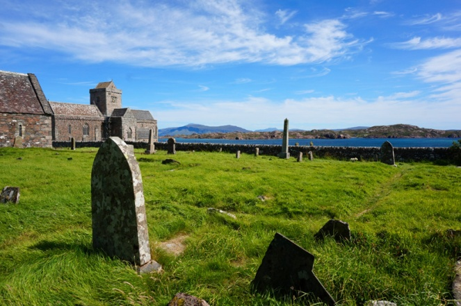 Iona Abbey and graveyard, Iona, Scotland