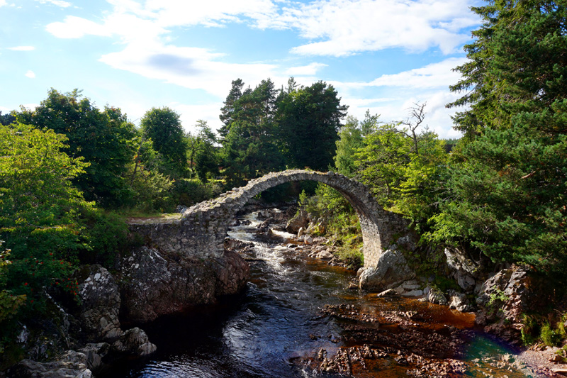 Old packhorse bridge, Carrbridge, Scotland