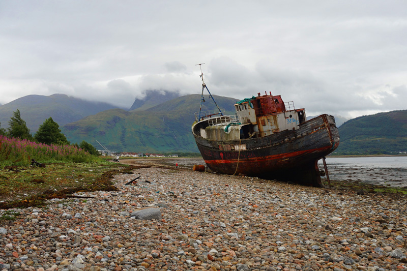 Corpach shipwreck, Fort William, Scotland