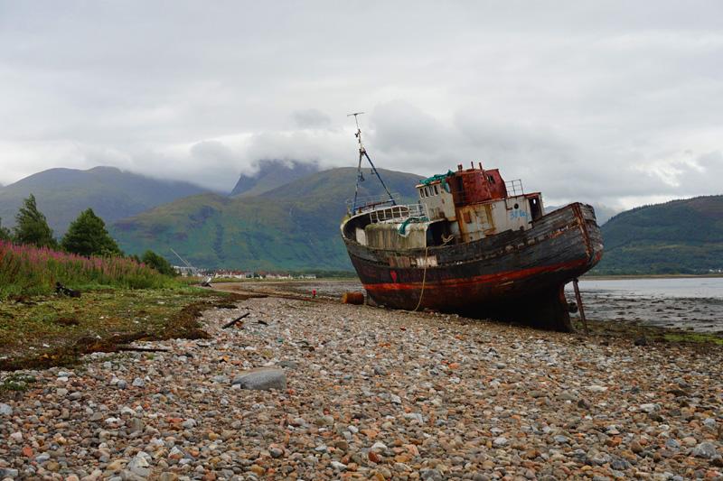 Corpach shipwreck, Fort William, Scotland
