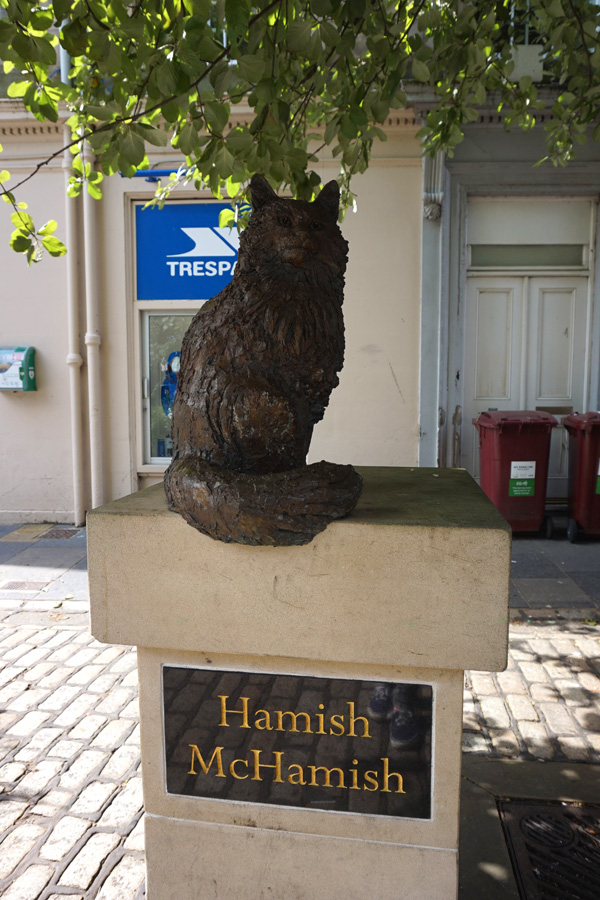 Hamish McHamish cat statue, St Andrews, Fife, Scotland