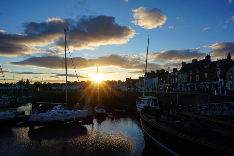 Anstruther sunset, Fife, Scotland