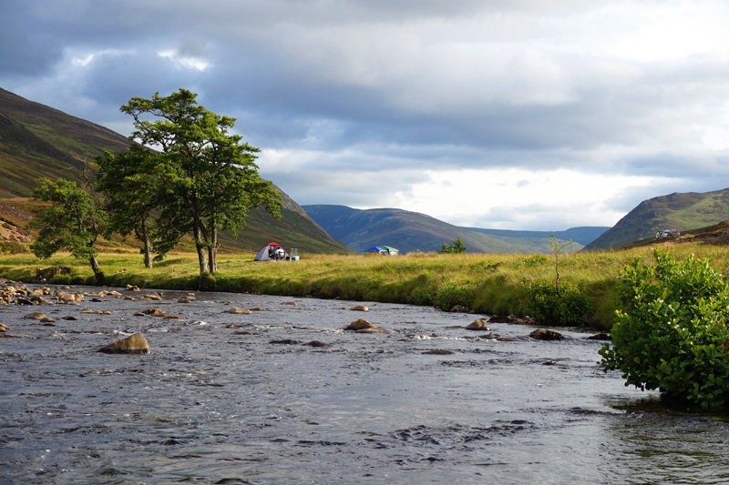 Camping in Braemar, Aberdeenshire, Scotland