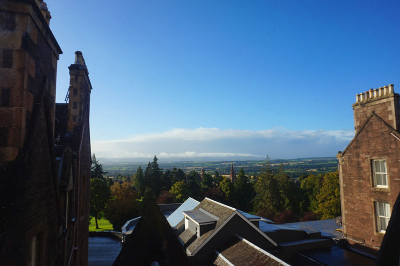 View over Crieff from the Hydro, Scotland