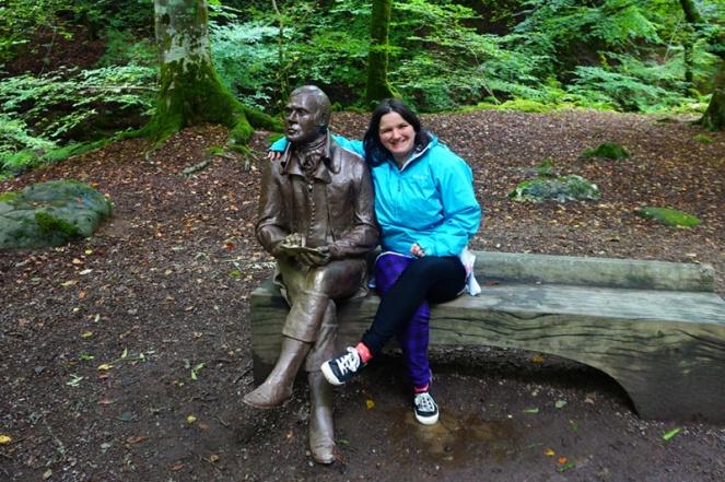 "Sitting with Robert ""Rabbie"" Burns, Birks Of Aberfeldy, Scotland"