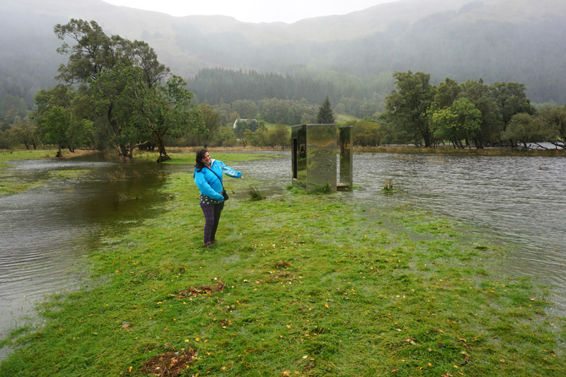 Loch Voil look out flooded, Trossachs, Scotland