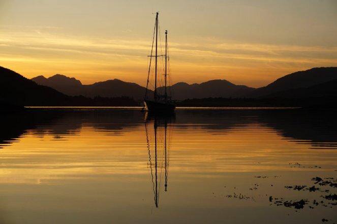 Sunset in Ballachulish, Glencoe