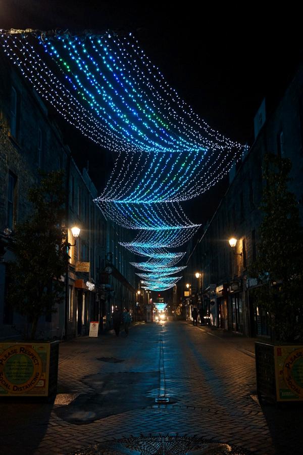 Rose Street at Christmas, Edinburgh, Scotland