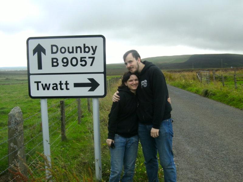 Twatt sign, Orkney