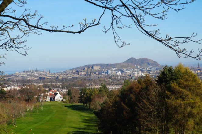 Rest And Be Thankful viewpoint, Corstorphine Hill, Edinburgh, Scotland