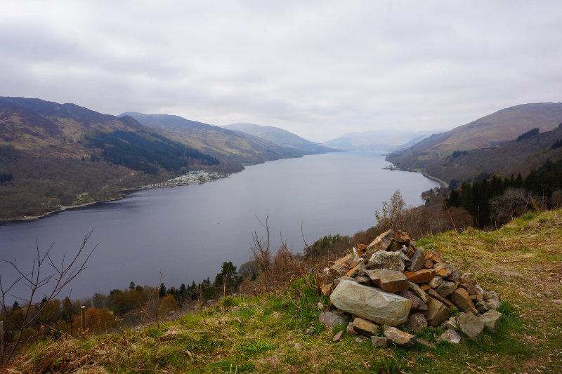 St Fillans walk over Loch Earn, Trossachs, Scotland