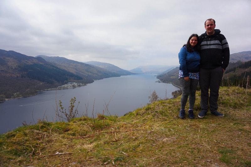 Ash & me at Loch Earn, Trossachs, Scotland