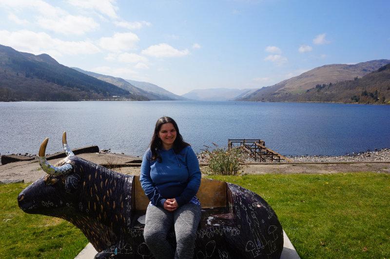 Me at Loch Earn, Trossachs, Scotland