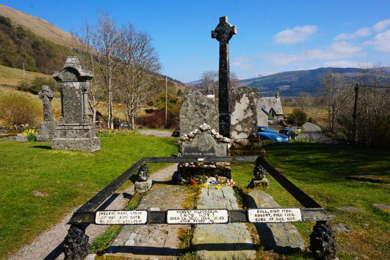 Rob Roy's grave, Balquhidder, Scotland