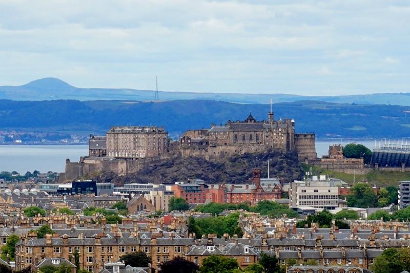 Edinburgh Castle from Blackford Hill, Scotland