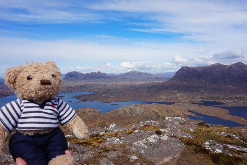 Gulliver on the Stac Pollaidh hike, Assynt, Scotland