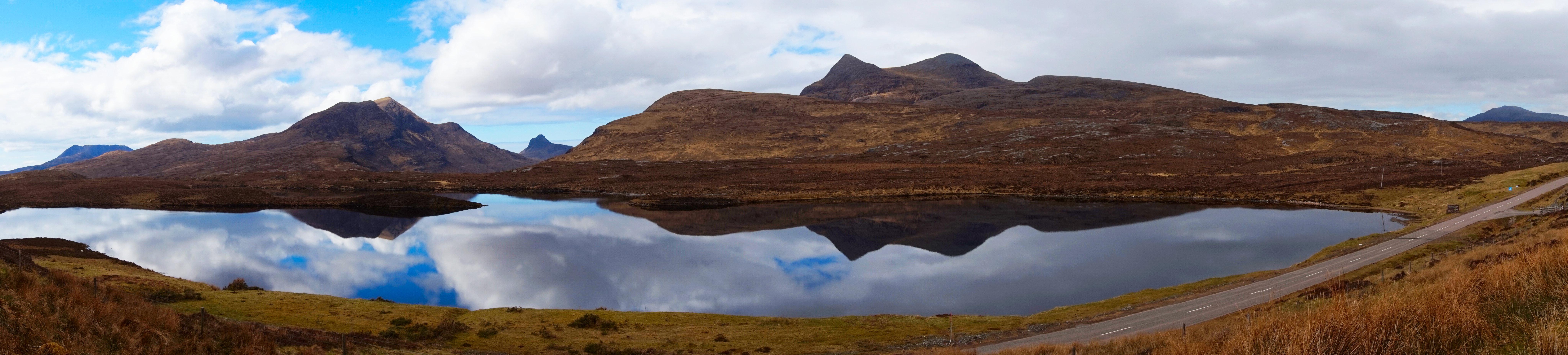 Panorama from Knockan Crag, Assynt, Scotland