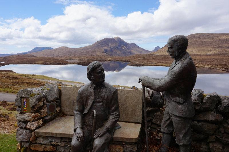 Knockan Crag statues, Assynt, Scotland