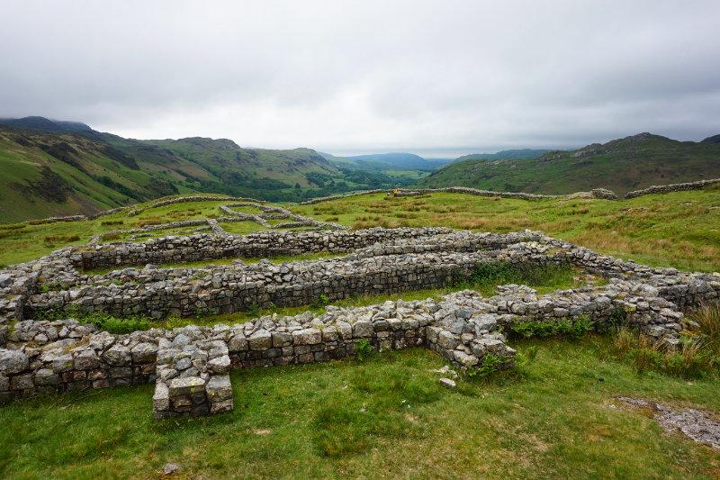 Hardknott Roman Fort, Lake District, England