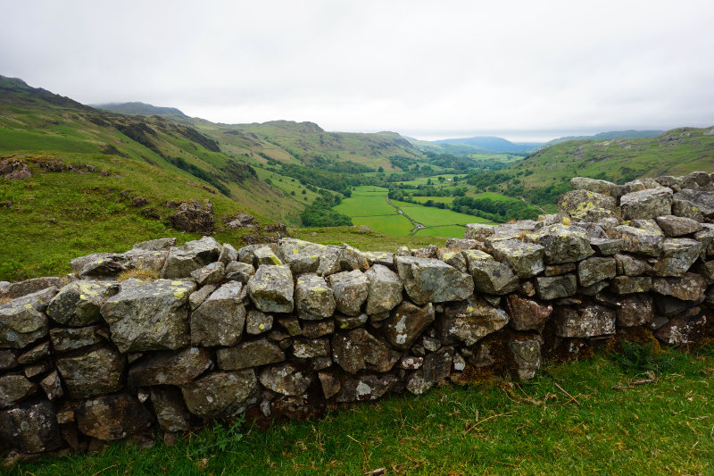 View from Hardknott Roman Fort, Lake District, England
