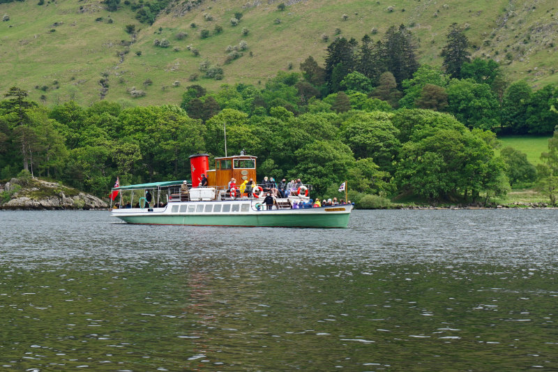 Steamboat on Ullswater, Lake District, England